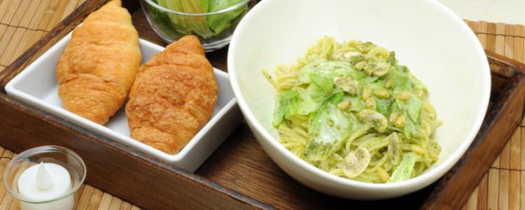 「野菜のカルボナーラ」濃厚なのに癖が無く、非常に食べやすいカルボナーラ。
