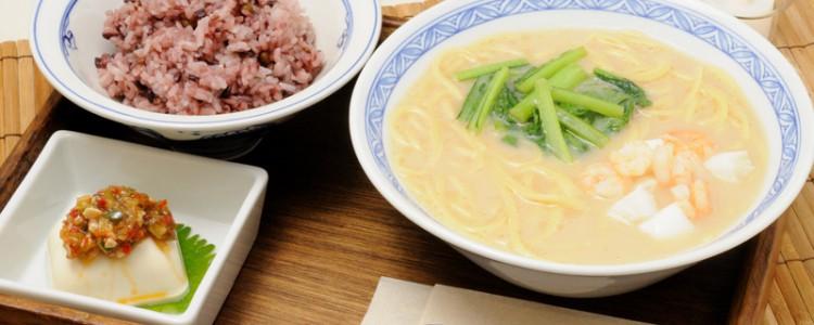 中華風スープパスタの「汁そばランチ」スープパスタ好きの方におすすめです